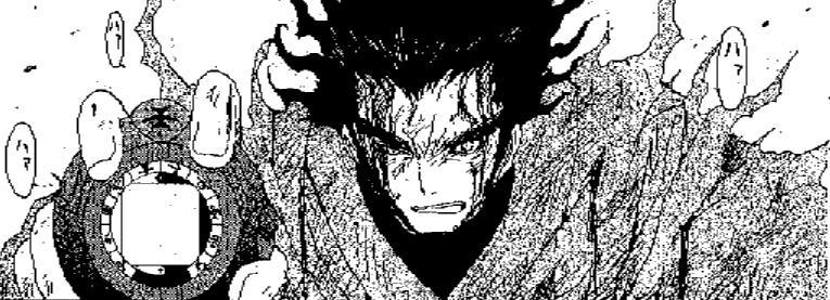 「陰陽大戦記」の敵マホロバ四天王の一人で、他の三人は宮本武蔵、服部半蔵、武蔵坊弁慶がモデル。タイムスリップ(刻渡り)しながら戦うお話だったので、歴史上の強敵